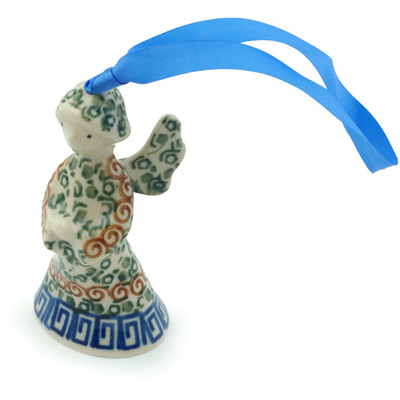 Polish Pottery 3-inch Angel Ornament | Boleslawiec Stoneware | Polmedia H3097I
