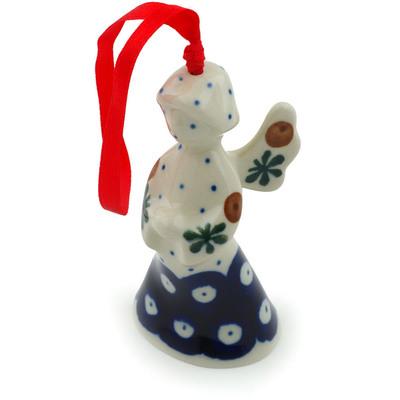 Polish Pottery 3-inch Angel Ornament | Boleslawiec Stoneware | Polmedia H3377I
