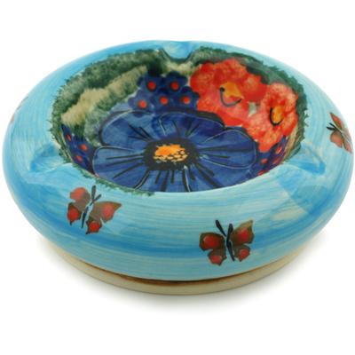 Polish Pottery 4-inch Ashtray | Boleslawiec Stoneware | Polmedia H6679I