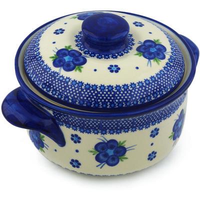 Polish Pottery 10-inch Baker with Cover | Boleslawiec Stoneware | Polmedia H0757H