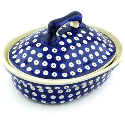 Polish Pottery 10-inch Baker with Cover | Boleslawiec Stoneware | Polmedia H3263H