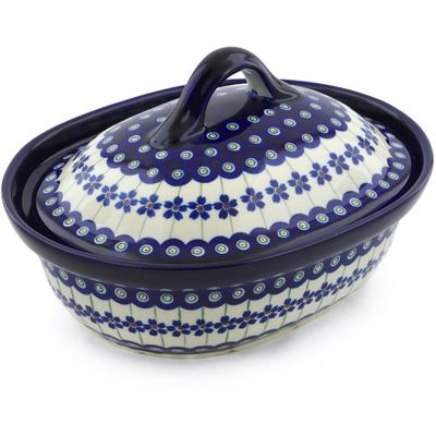 Polish Pottery 10-inch Baker with Cover | Boleslawiec Stoneware | Polmedia H0305A