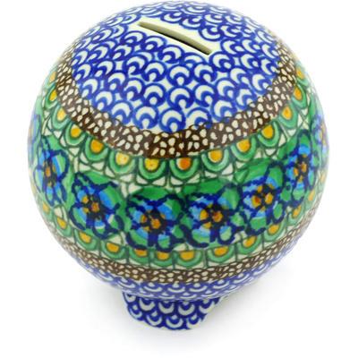 Polish Pottery 4-inch Ball Piggy Bank | Boleslawiec Stoneware | Polmedia H5690G
