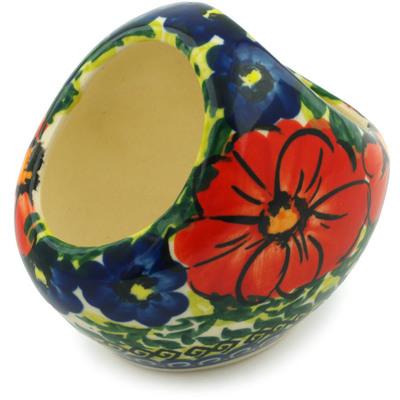 Polish Pottery 3-inch Basket with Handle | Boleslawiec Stoneware | Polmedia H6108I