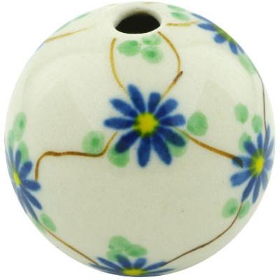 Polish Pottery 1-inch Bead | Boleslawiec Stoneware | Polmedia H6083H