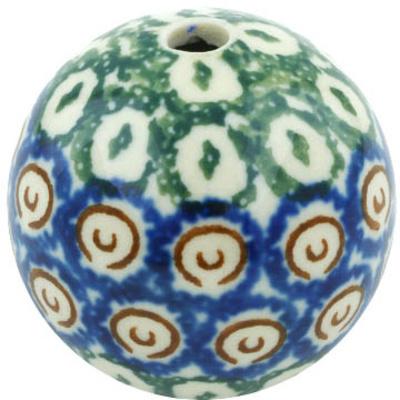 Polish Pottery 1-inch Bead | Boleslawiec Stoneware | Polmedia H5594H