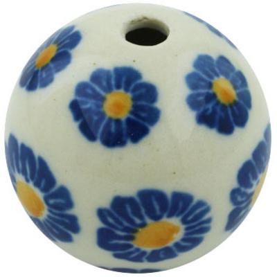 Polish Pottery 1-inch Bead | Boleslawiec Stoneware | Polmedia H5497H