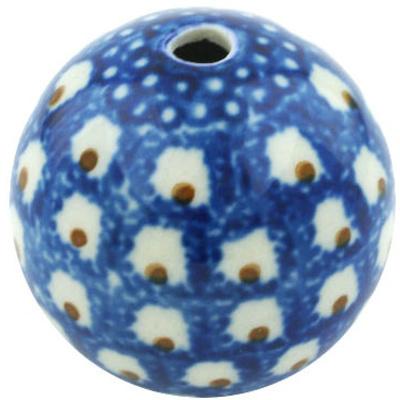 Polish Pottery 1-inch Bead | Boleslawiec Stoneware | Polmedia H6674H