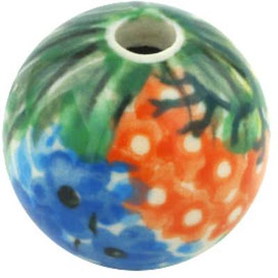 Polish Pottery 1-inch Bead | Boleslawiec Stoneware | Polmedia H9057G