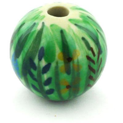 Polish Pottery 1-inch Bead | Boleslawiec Stoneware | Polmedia H5810G
