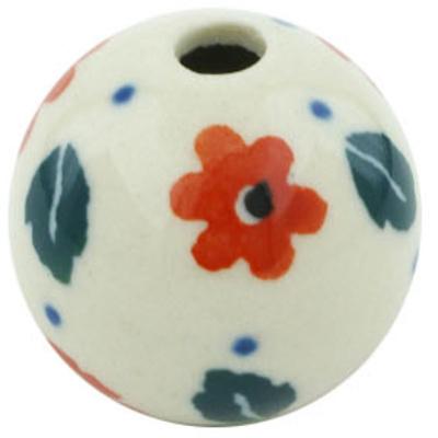 Polish Pottery 1-inch Bead | Boleslawiec Stoneware | Polmedia H5498H