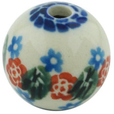 Polish Pottery 1-inch Bead | Boleslawiec Stoneware | Polmedia H5486H