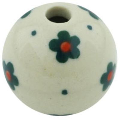 Polish Pottery 1-inch Bead | Boleslawiec Stoneware | Polmedia H5391H