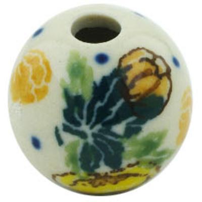 Polish Pottery 1-inch Bead | Boleslawiec Stoneware | Polmedia H5819H