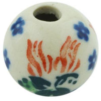 Polish Pottery 1-inch Bead | Boleslawiec Stoneware | Polmedia H5776H