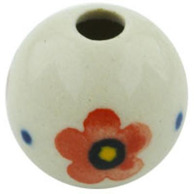 Polish Pottery 1-inch Bead | Boleslawiec Stoneware | Polmedia H6207H