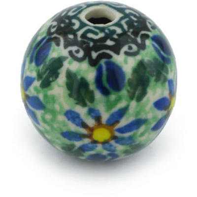 Polish Pottery 1-inch Bead | Boleslawiec Stoneware | Polmedia H8502F