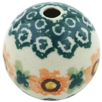 Polish Pottery 1-inch Bead   Boleslawiec Stoneware   Polmedia H5551H