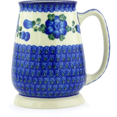 Polish Pottery 34 oz Beer Mug   Boleslawiec Stoneware   Polmedia H6101G
