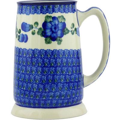 Polish Pottery 28 oz Beer Mug | Boleslawiec Stoneware | Polmedia H5773G