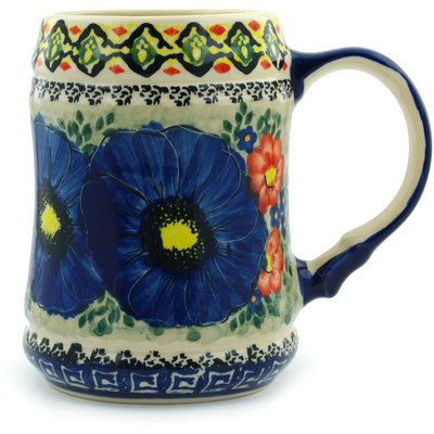 Polish Pottery 25 oz Beer Mug   Boleslawiec Stoneware   Polmedia H4910I