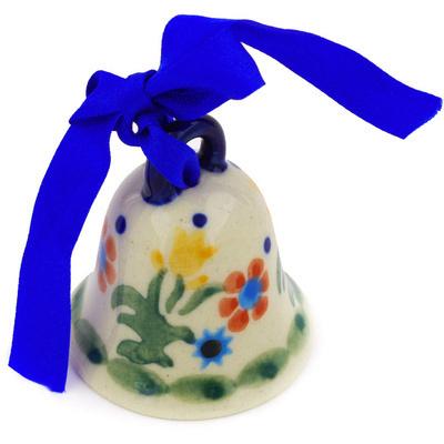 Polish Pottery 2-inch Bell Figurine | Boleslawiec Stoneware | Polmedia H3704E