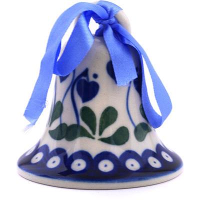 Polish Pottery 3-inch Bell Ornament | Boleslawiec Stoneware | Polmedia H6089G