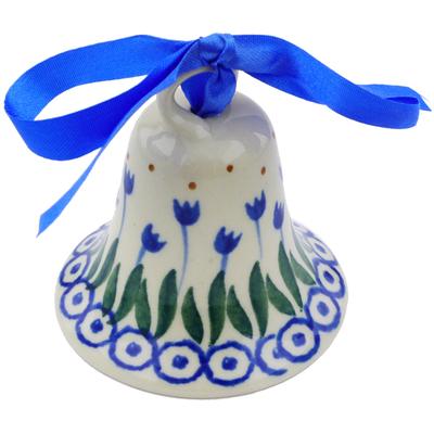 Polish Pottery 3-inch Bell Ornament | Boleslawiec Stoneware | Polmedia H7244I