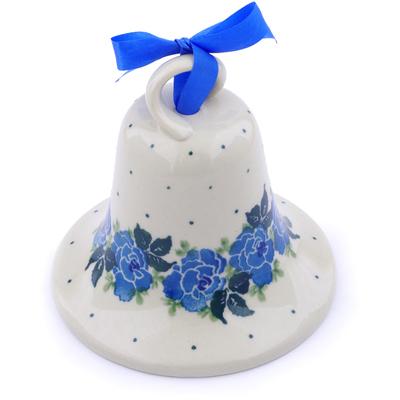 Polish Pottery 4-inch Bell Ornament | Boleslawiec Stoneware | Polmedia H1145J