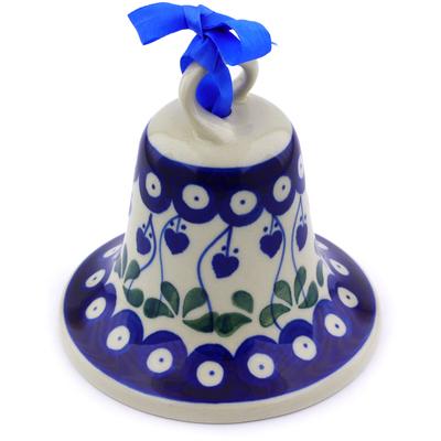 Polish Pottery 4-inch Bell Ornament | Boleslawiec Stoneware | Polmedia H7192I