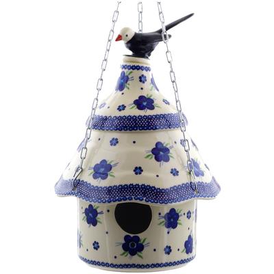 Polish Pottery 11-inch Birdhouse | Boleslawiec Stoneware | Polmedia H5076F