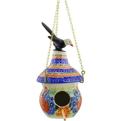 Polish Pottery 10-inch Birdhouse | Boleslawiec Stoneware | Polmedia H5022F