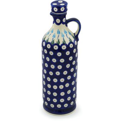 Polish Pottery 27 oz Bottle   Boleslawiec Stoneware   Polmedia H0997H