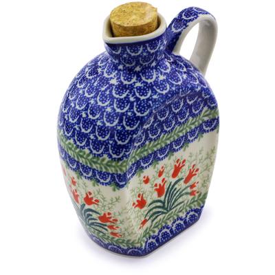 Polish Pottery 19 oz Bottle | Boleslawiec Stoneware | Polmedia H4615I