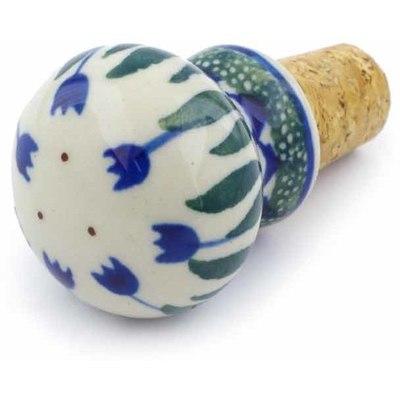 Polish Pottery 2-inch Bottle Stopper | Boleslawiec Stoneware | Polmedia H0506J