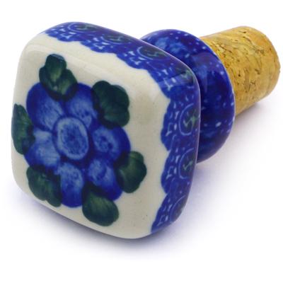Polish Pottery 2-inch Bottle Stopper   Boleslawiec Stoneware   Polmedia H3436B