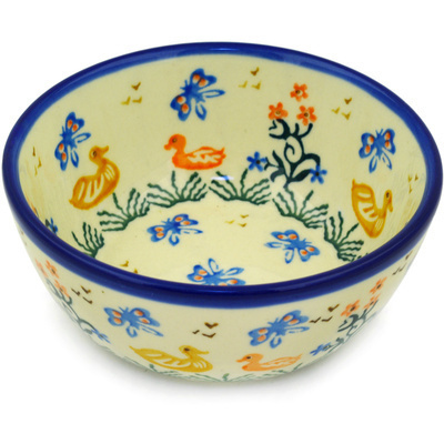 Polish Pottery 5-inch Bowl | Boleslawiec Stoneware | Polmedia H1513D