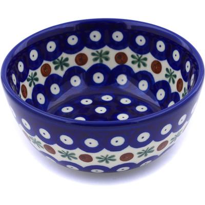 Polish Pottery 5-inch Bowl   Boleslawiec Stoneware   Polmedia H8253B