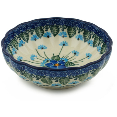 Polish Pottery 5-inch Bowl | Boleslawiec Stoneware | Polmedia H0659I