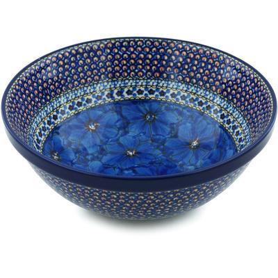 Polish Pottery 11-inch Bowl | Boleslawiec Stoneware | Polmedia H4432H