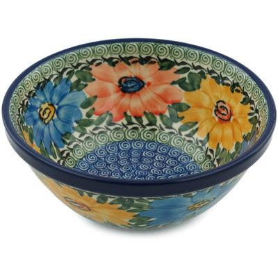 Polish Pottery 6-inch Bowl | Boleslawiec Stoneware | Polmedia H0959I