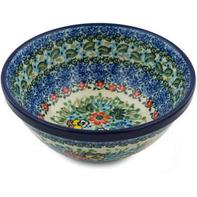 Polish Pottery 6-inch Bowl | Boleslawiec Stoneware | Polmedia H0956I
