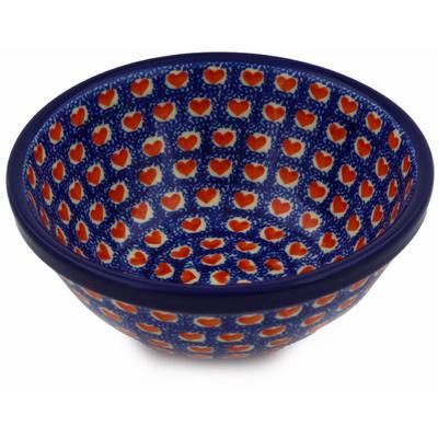 Polish Pottery 6-inch Bowl   Boleslawiec Stoneware   Polmedia H2839E