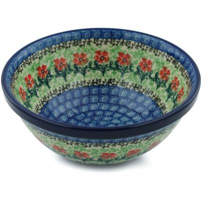 Polish Pottery 6-inch Bowl   Boleslawiec Stoneware   Polmedia H3316I