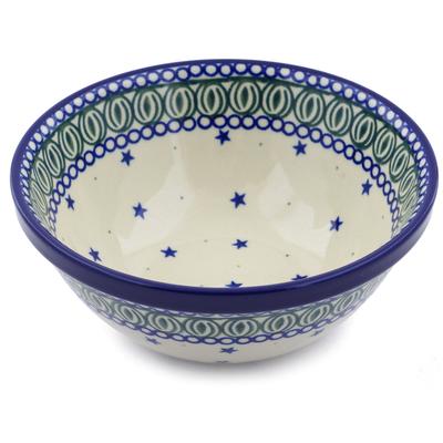Polish Pottery 6-inch Bowl | Boleslawiec Stoneware | Polmedia H1609B