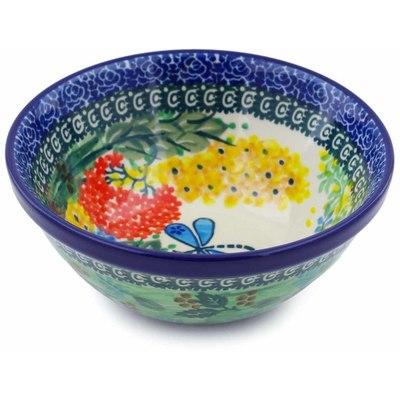 Polish Pottery 5-inch Bowl   Boleslawiec Stoneware   Polmedia H2327B