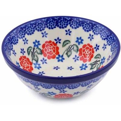 Polish Pottery 5-inch Bowl | Boleslawiec Stoneware | Polmedia H5215I
