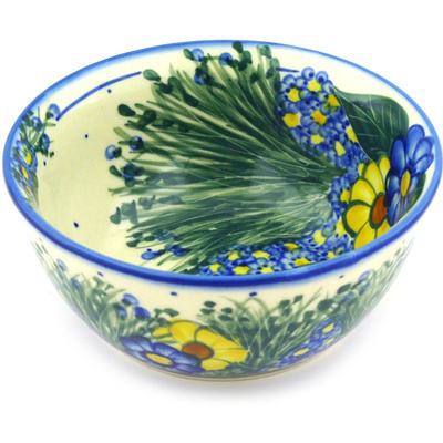 Polish Pottery 6-inch Bowl | Boleslawiec Stoneware | Polmedia H7299F