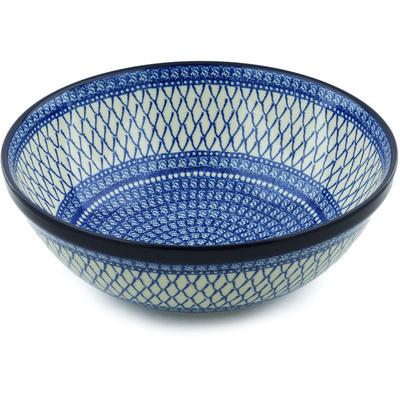 Polish Pottery 13-inch Bowl | Boleslawiec Stoneware | Polmedia H5199H