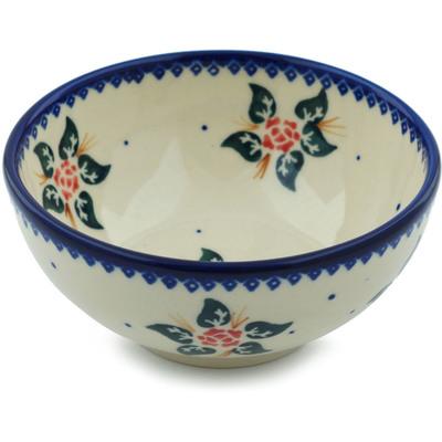 Polish Pottery 5-inch Bowl | Boleslawiec Stoneware | Polmedia H0029I